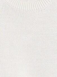Cotton-Blend Balloon-Sleeve Sweater