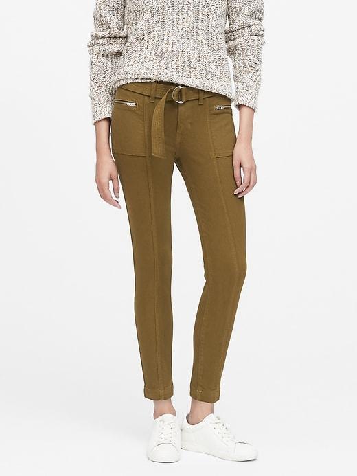 Petite Mid-Rise Skinny Utility Jean