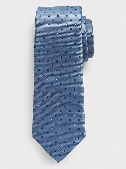 Stain-Resistant Blue Circles Tie
