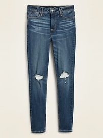 High-Waisted Rockstar Distressed Super Skinny Jeans For Women