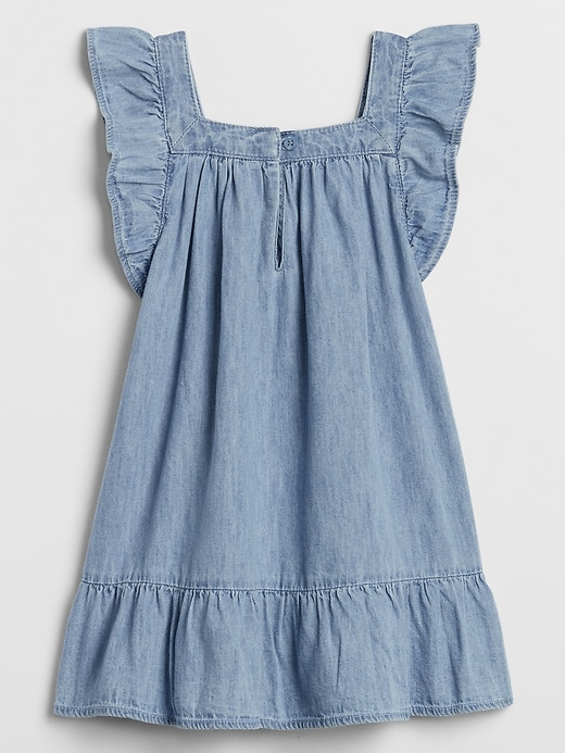Toddler Ruffle Denim Dress