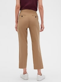 Avery Tie-Waist Brushed Twill Tailored Ankle Pant