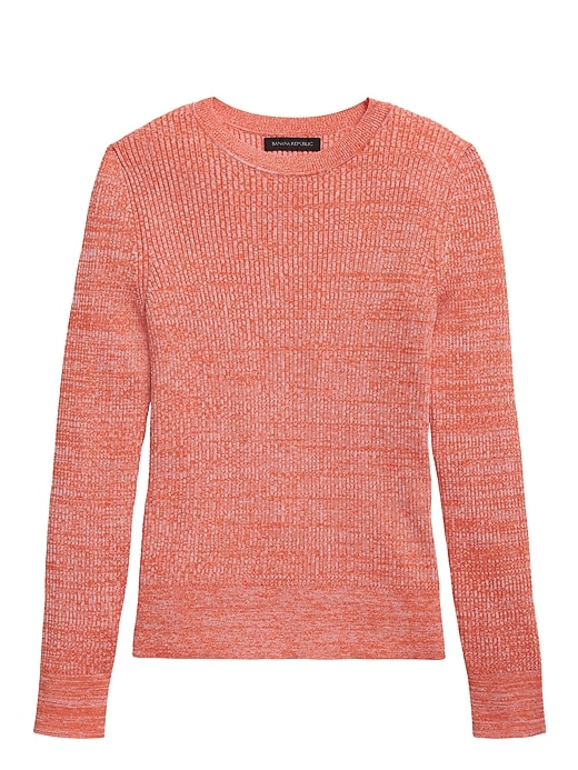 Stretch Cotton Crew-Neck Sweater