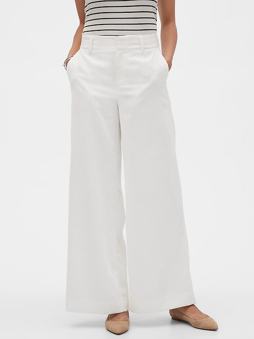 Wide-Leg Cord Trouser