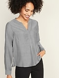Deals on Old Navy Cropped Pullover Swing Blouse for Women