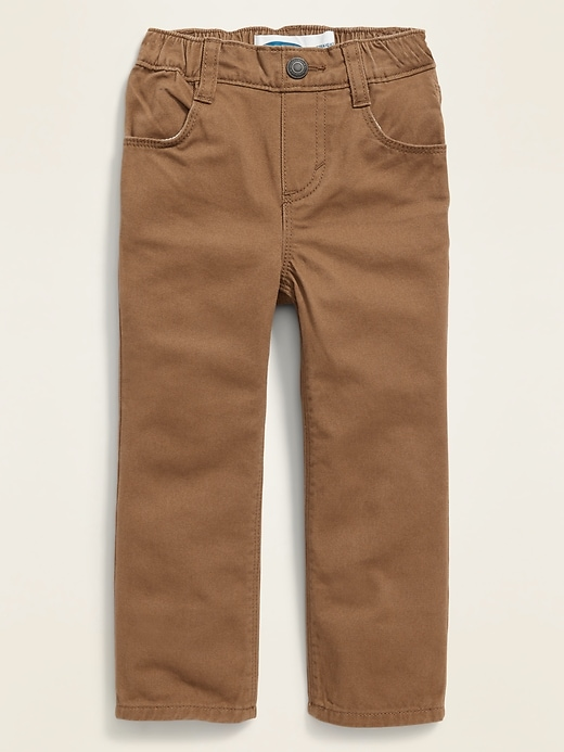 Straight Pull-On Pop-Color Jeans for Toddler Boys