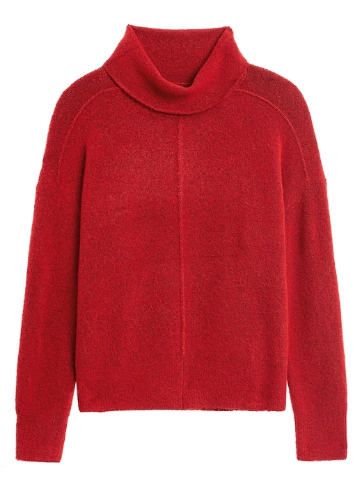 Merino-Blend Funnel-Neck Sweater