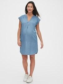 Maternity Popover Dress in TENCEL&#153