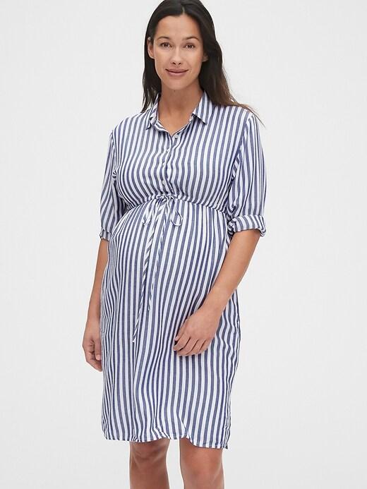 Maternity Midi Shirtdress