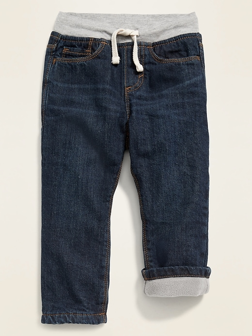 Rib-Knit Waist Performance Fleece-Lined Jeans for Toddler Boys