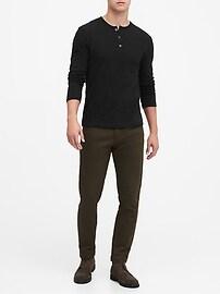 T-shirt henley rétro 100% coton