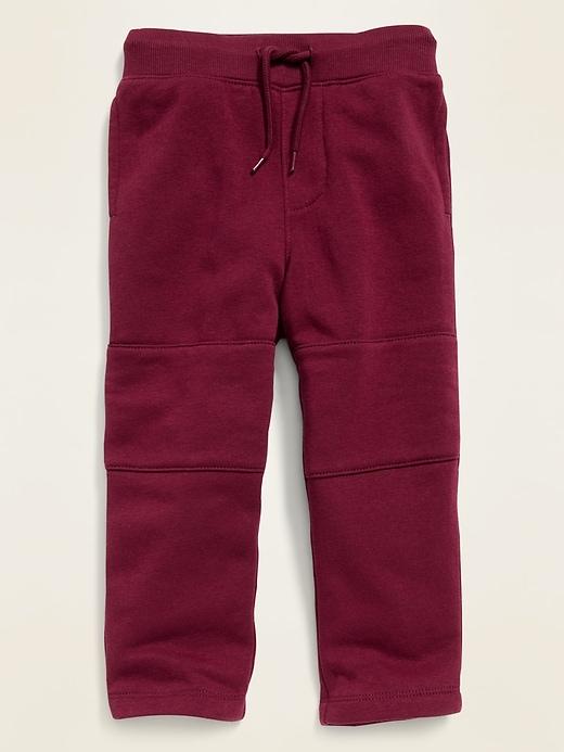 Fleece-Knit Functional-Drawstring Pants for Toddler Boys