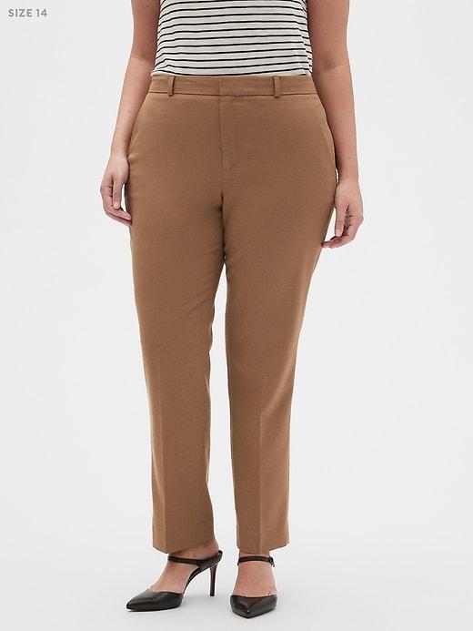 Washable Curvy Ryan Camel Suit Trouser