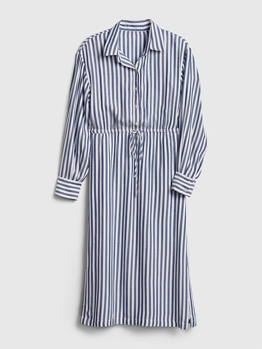 Striped Midi Shirtdress. #shirtdress #dresses #stripedress #summerfashion #women