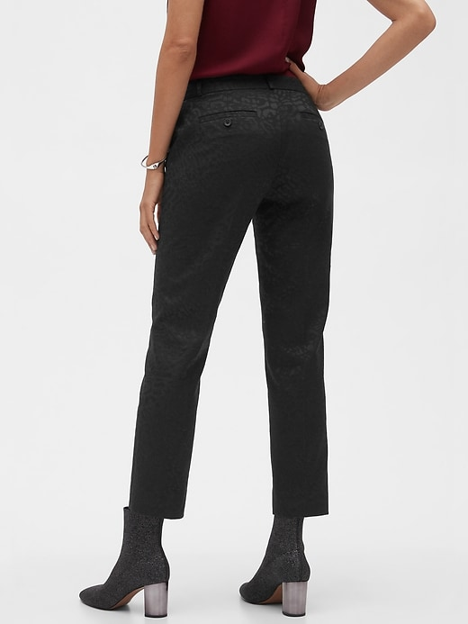 Avery Leopard Jacquard Tailored Ankle Pant