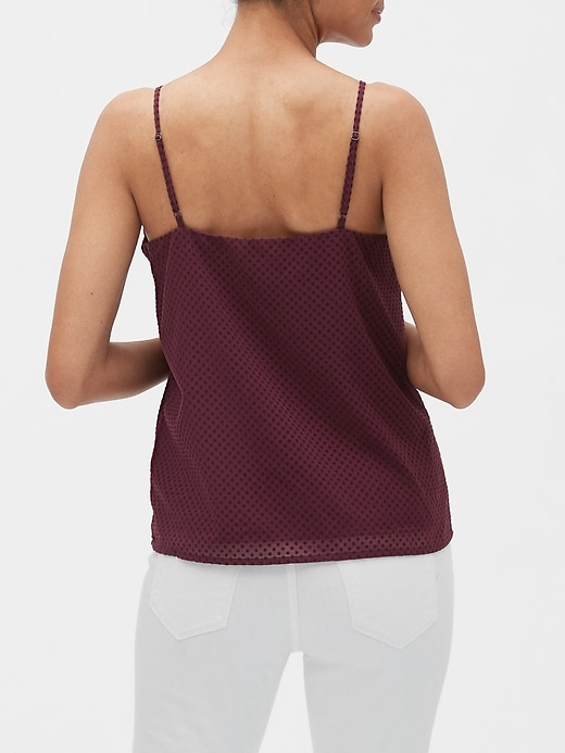 Flock Dot Print Classic Camisole