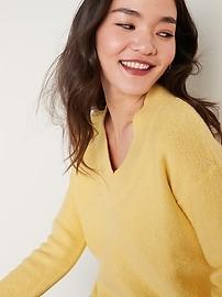 Cozy Bouclé V-Neck Sweater for Women