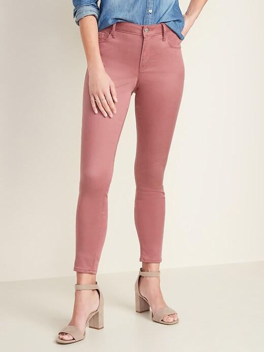 Mid-Rise Sateen Rockstar Super Skinny Jeans for Women