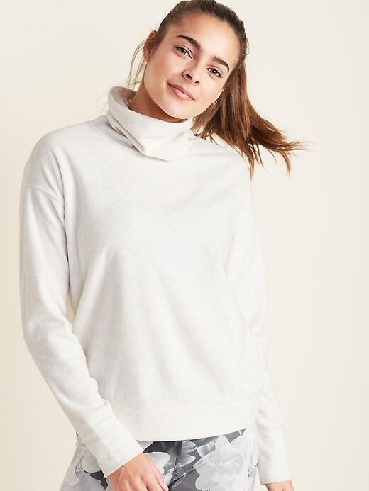 Go-Warm Micro Performance Fleece Funnel-Neck Pullover for Women
