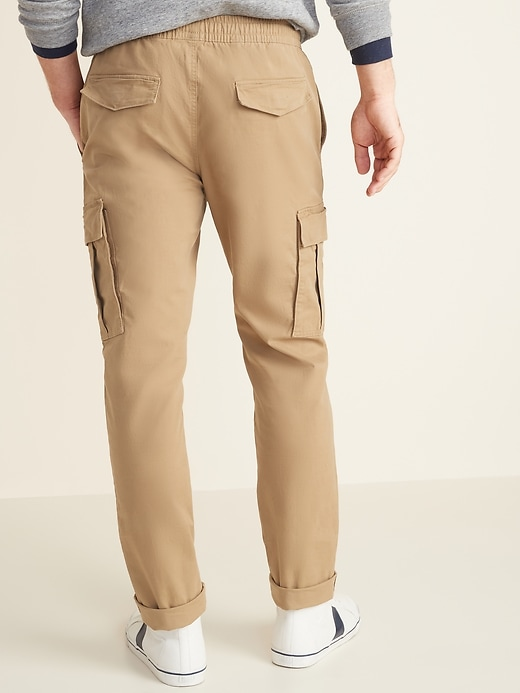 Relaxed Slim Built-In Flex Twill Pull-On Cargo Pants for Men