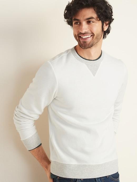 Soft-Washed Crew-Neck Sweatshirt for Men