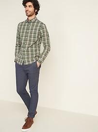 Regular-Fit Built-In Flex Plaid Everyday Shirt for Men