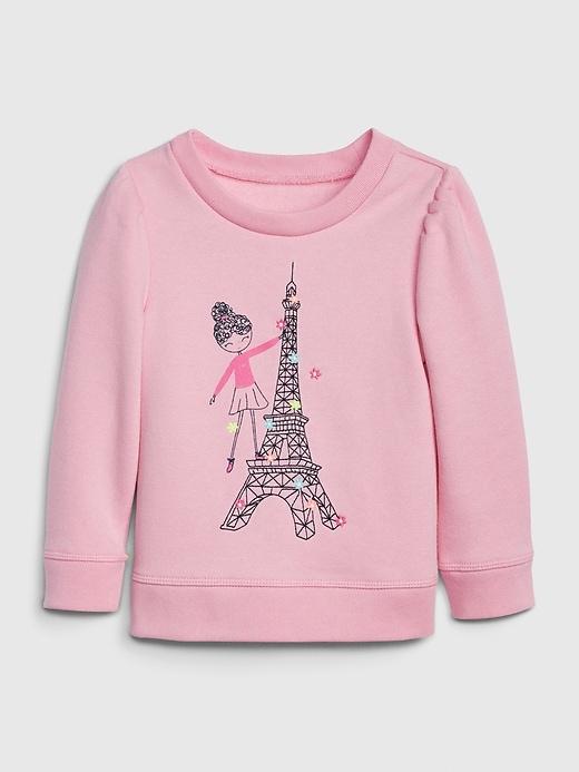 Toddler Bea Puff-Sleeve Sweatshirt