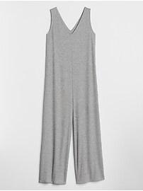 Softspun V-Neck Wide-Leg Jumpsuit