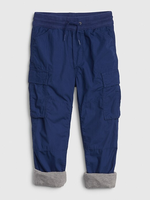 Kids Jersey-Lined Cargo Joggers
