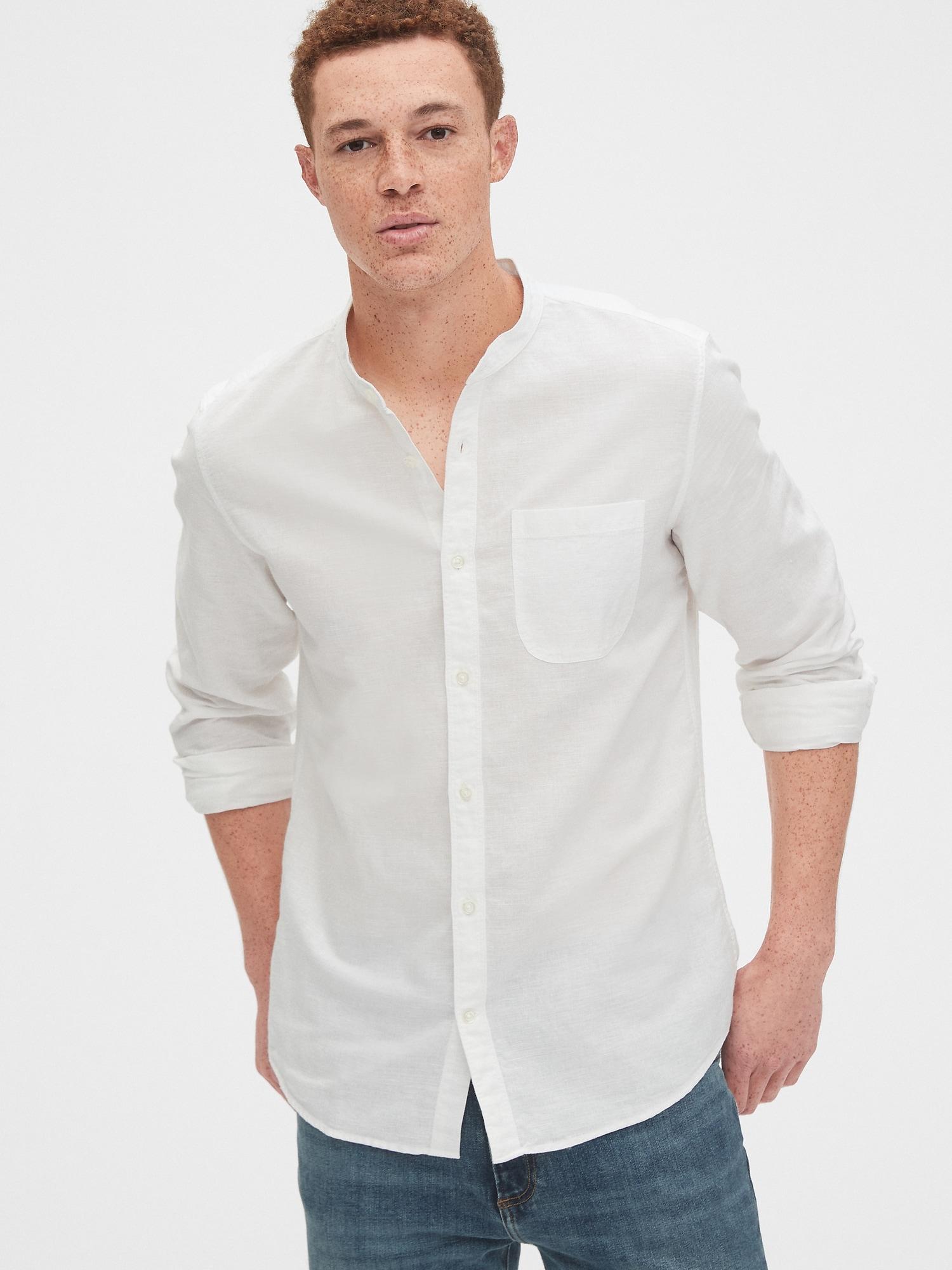 ポケットリネンシャツ