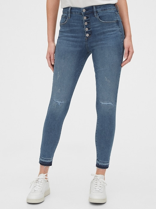 High Rise Rip & Repair Favorite Jeggings with Secret Smoothing Pockets