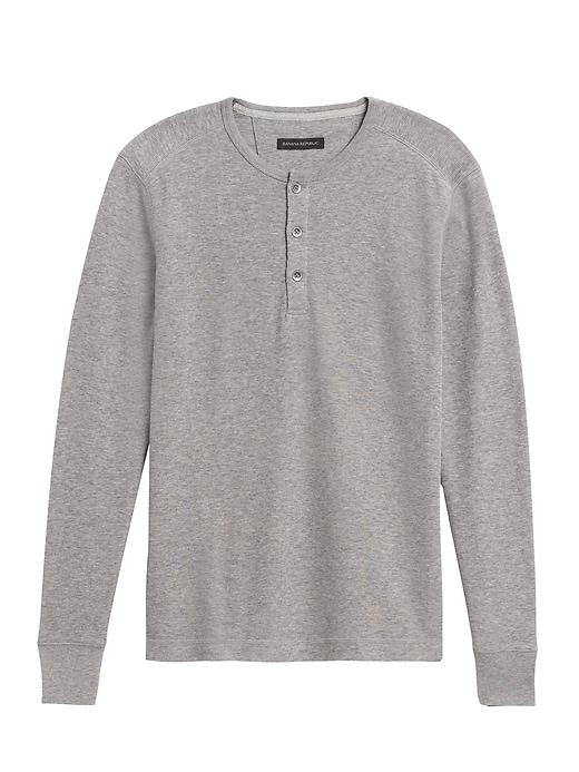 Core Temp Waffle-Knit Henley T-Shirt