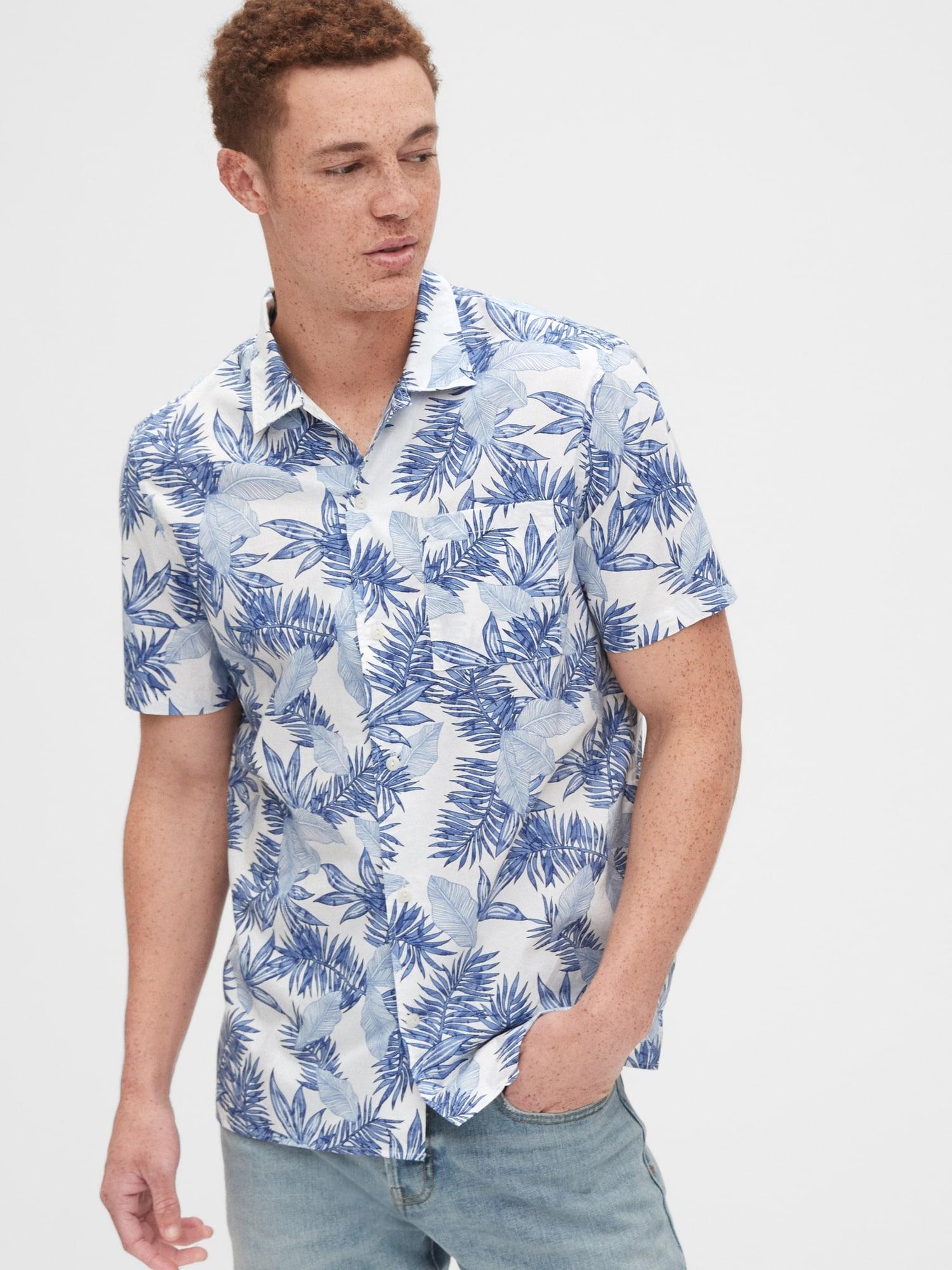 半袖 ポプリンシャツ