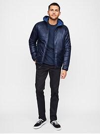 Reversible Hooded Puffer Jacket