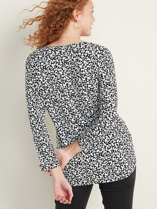 Luxe Floral V-Neck Top for Women