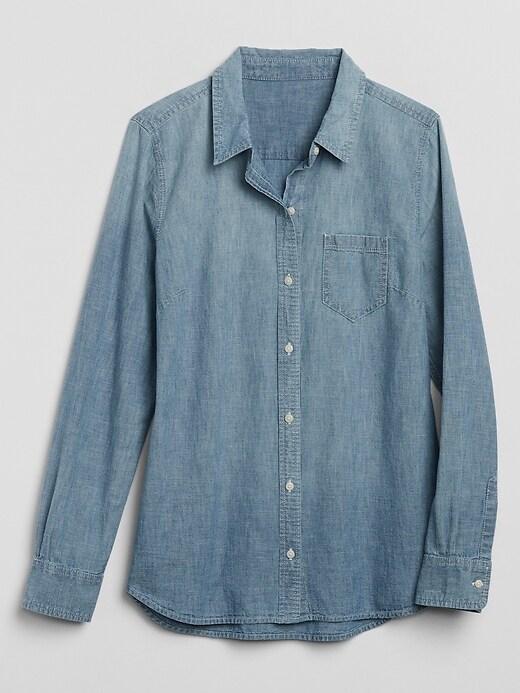 Long Sleeve Shirt in Chambray