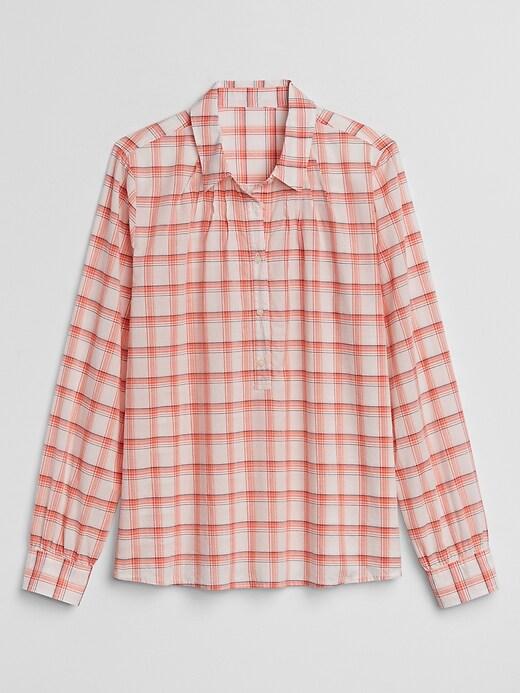 Popover Plaid Shirt