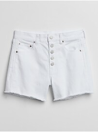 "3.5"" High Rise Button-Fly Denim Shorts"