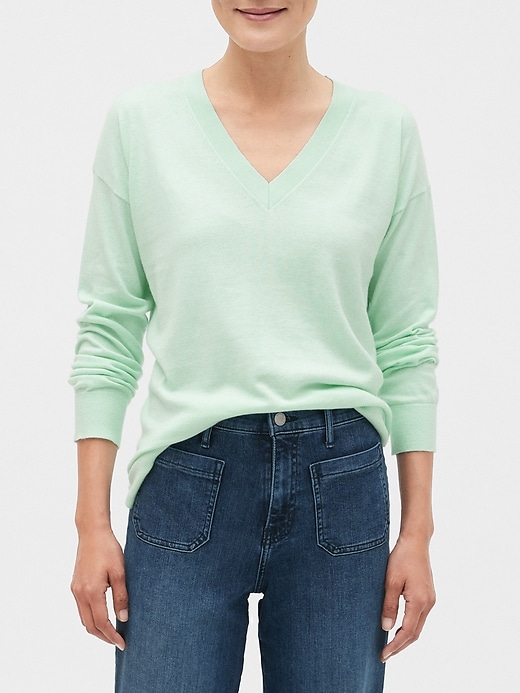 Premium Luxe Washable V-Neck Sweater