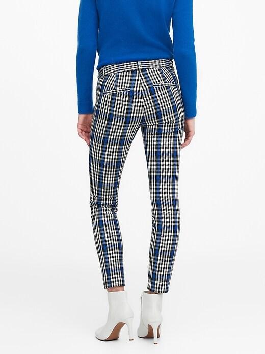 Modern Sloan Skinny-Fit Washable Plaid Pant