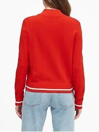 Petite Chevron Sweater Track Jacket