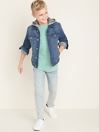 Built-In Flex Fleece-Hood Jean Jacket for Boys