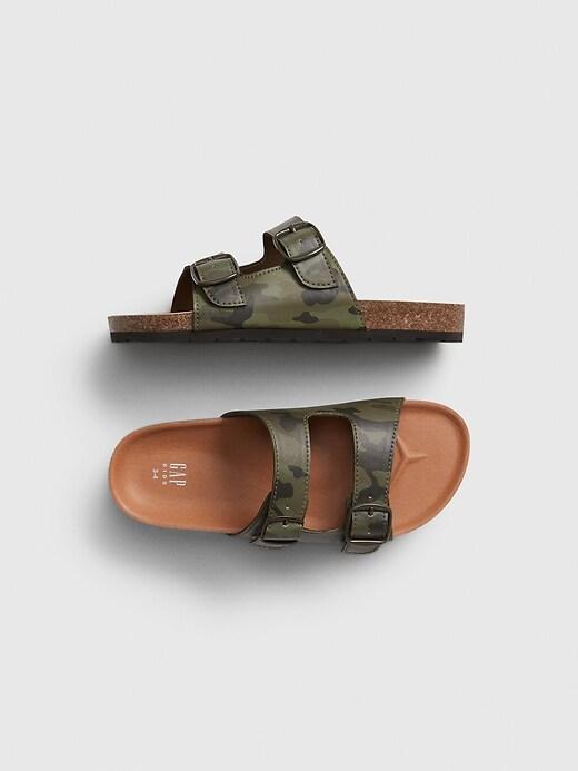 Kids Camo Cork Sandals