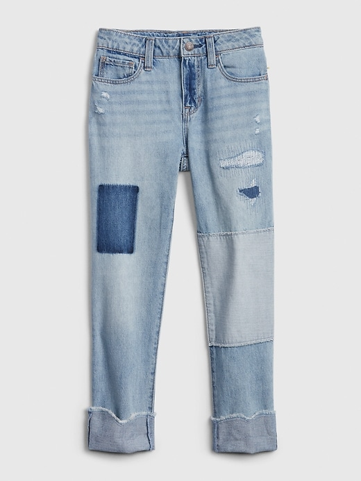 Kids Denim Patch Girlfriend Jeans