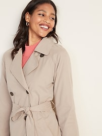 Water-Resistant Trench Coat for Women