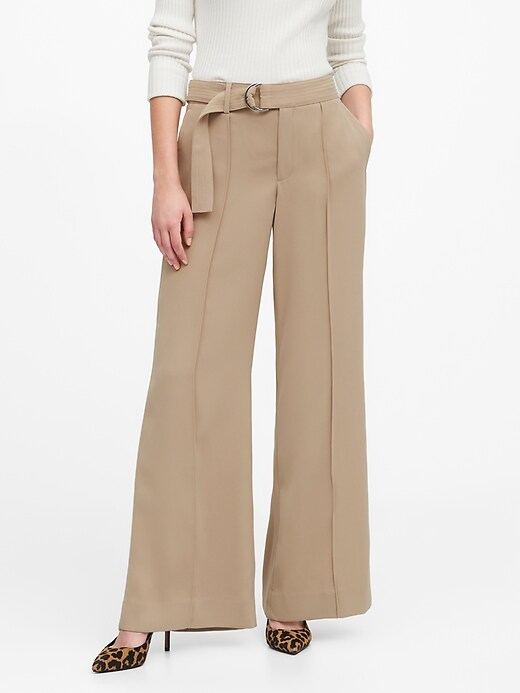 High-Rise Wide-Leg Utility Pant