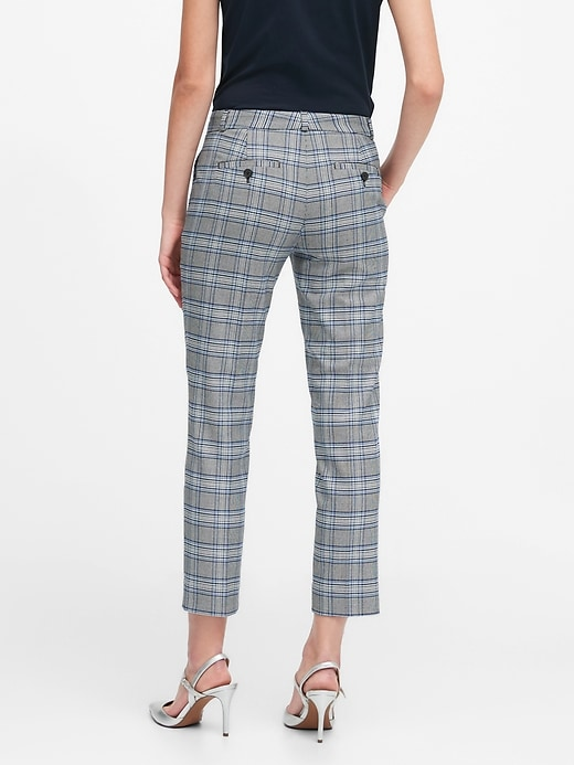 Avery Straight-Fit Plaid Ankle Pant