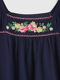 Kids Floral Embroidered Dress