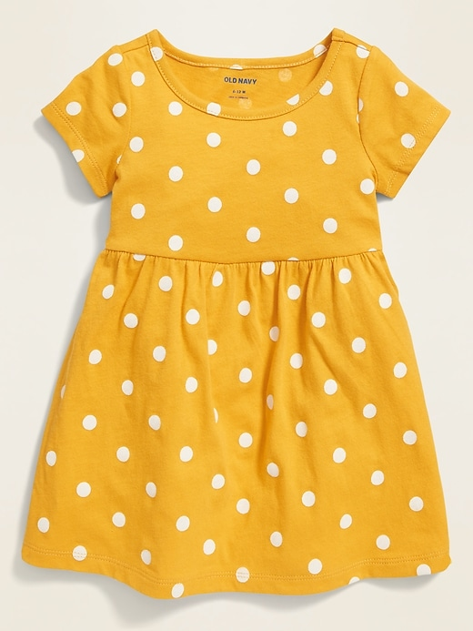 Printed Jersey Fit & Flare Dress for Baby