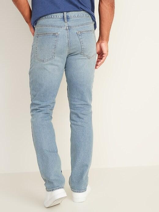 Straight Built-In Flex Light-Wash Jeans For Men